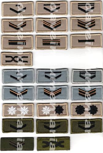 grado cabo, militaria insignia jerarquia verde