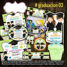 Graduacion Invitacion Candy Bar Imprimible Kinder O Primaria