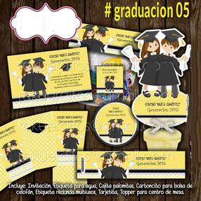 Graduaciones Invitacion Candy Bar Imprimible Kinder Primaria