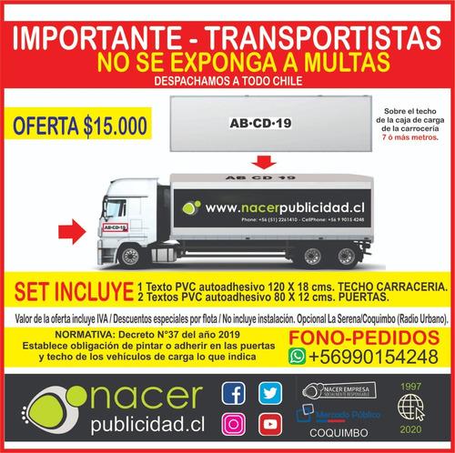grafica para transportes y camiones bajo norma