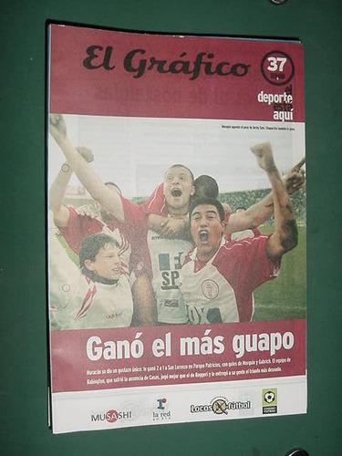 grafico semana 37 futbol huracan san lorenzo estudiantes