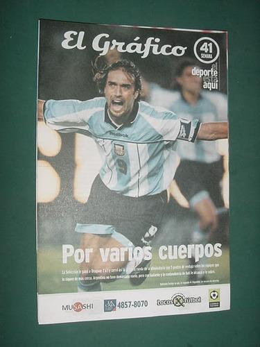 grafico semana 41 batistuta argentina uruguay los andes boca