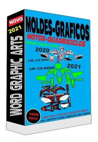 gráficos de motos off road kit 1650 gráficos