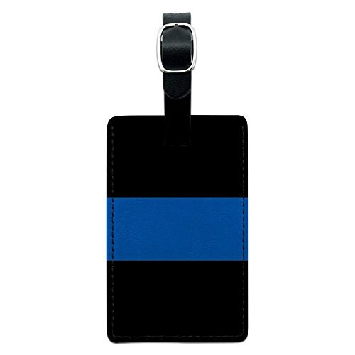 gráficos y más thin blue line equipaje de cuero de la poli