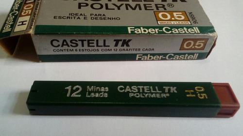 grafite faber castell tk. 0.5 h. caixa com 6 tubos c 12un.