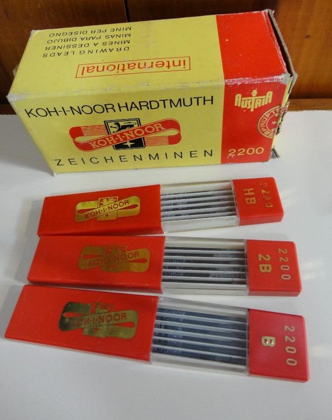 5fe47bf29 Grafite Koh I Noor 2mm Austria 3 Estojos 6 Grafites Cada - R$ 23,00 em  Mercado Livre