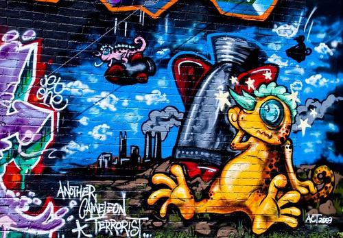 grafiti poster 60cmx90cm arte moderna - para decorar sala