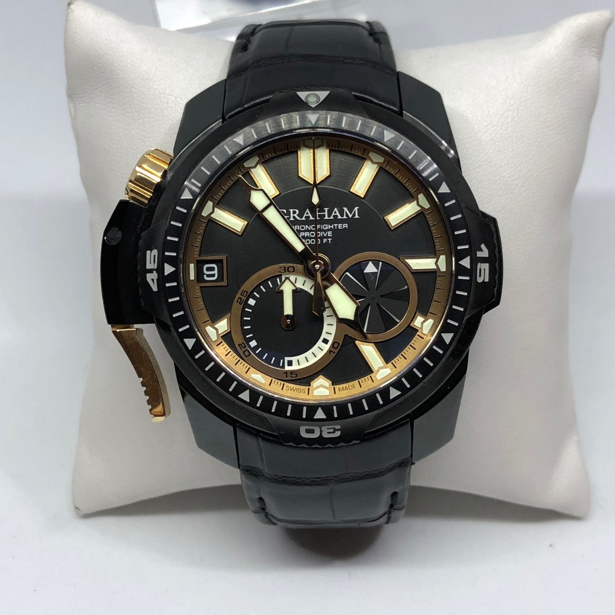 e41adf2c3bb7 Graham Chronofighter Prodive Acero Inoxidable Y Caucho ...
