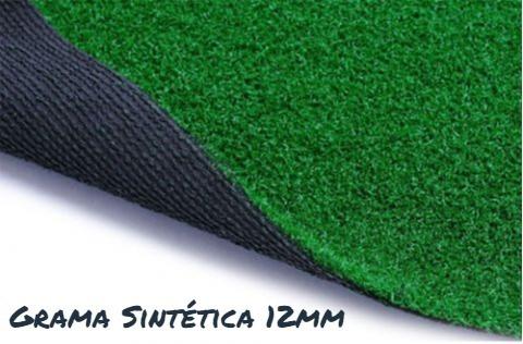 grama sintética 12mm decorativa