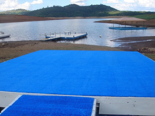 grama sintética  azul playground buffet escola festa-10m2