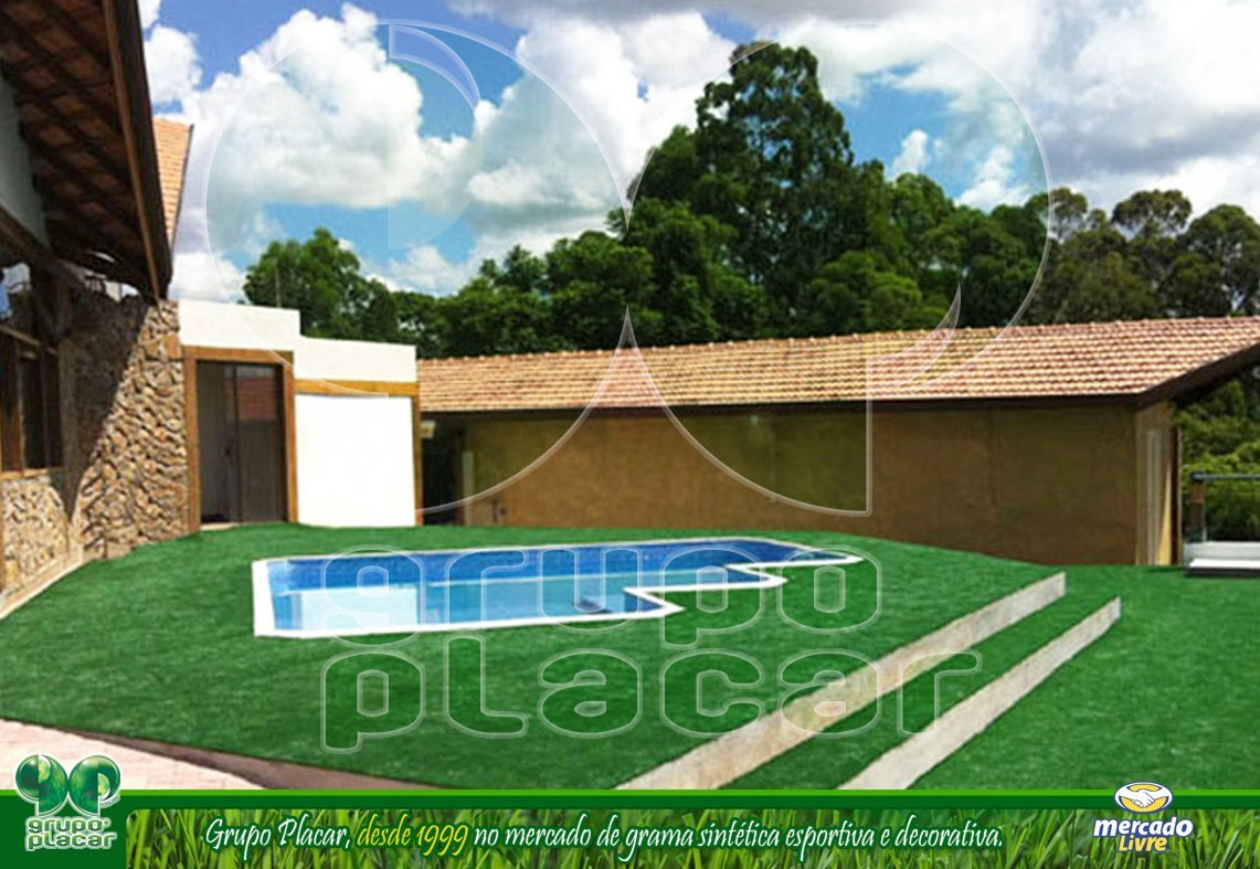 Grama sint tica decor playground piscina jardim rolo 50m2 for Piscina 50 m