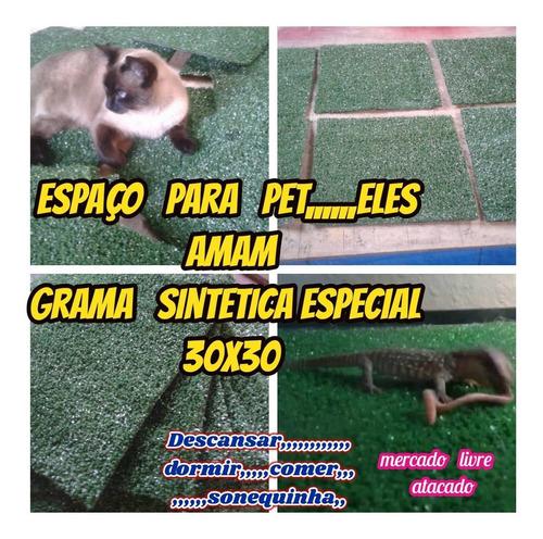 grama sintética relaxante p/pets em geral kit c/03 placas