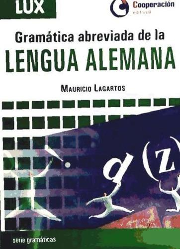 gramática abreviada de la lengua alemana(libro )