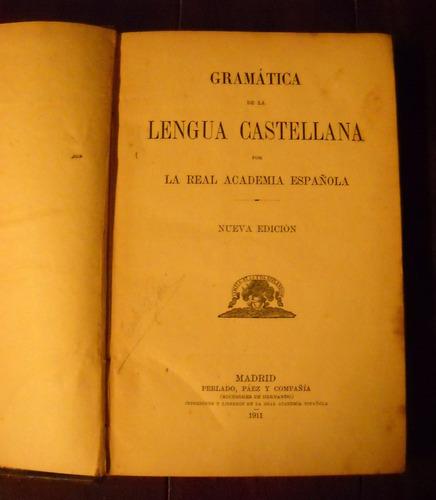 gramática de la lengua castellana - real academia española