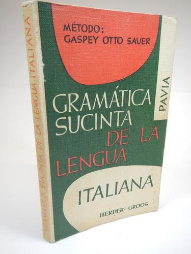 gramática sucinta de la lengua italiana d8