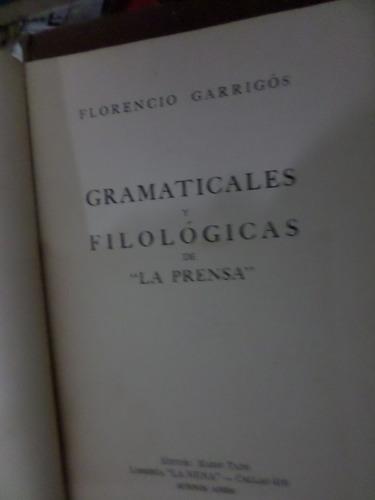 gramaticales y filológicas de prensa florencio garrigós