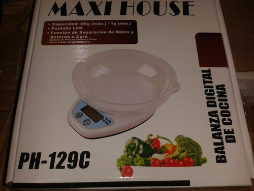 gramera balanza 5kg digital cocina + recipiente gr ml onz!