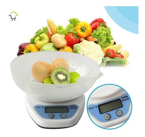 gramera balanza 5kg digital cocina + recipiente gr ml onz!