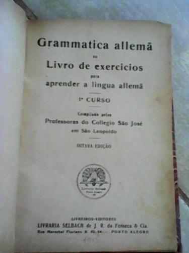 grammatica allemã livro raro 1915