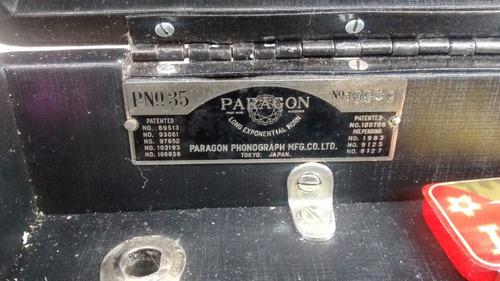 gramofone tipo maleta paragon - japonês - único no brasil