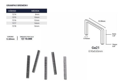 grampa engrampadora neumatica 10mm 12.8mm x10000 bremen 7275
