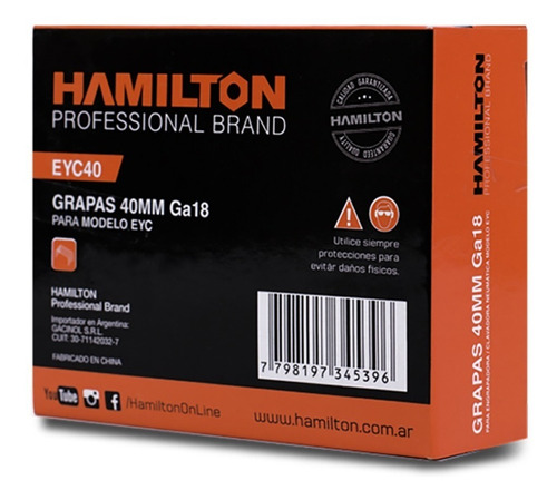 grampa engrampadora neumatica 5.7x40 mm hamilton martin´s