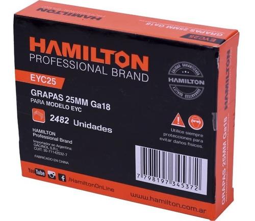 grampas 32mm hamilton x 2516 un. engrapadora clavadora grapa
