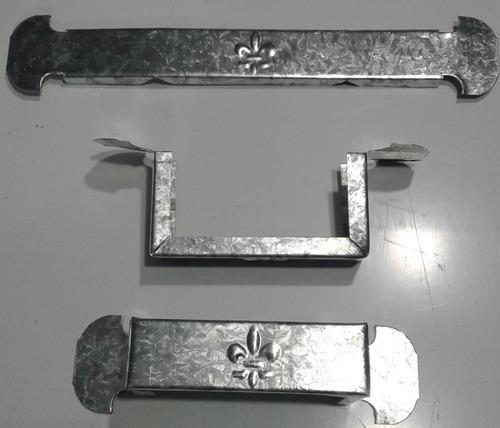 grampas caños 2 x 4 galvanizado pluvial