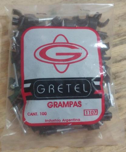 grampas gretel omega p/ cable utp c/ clavo acerado x 1000