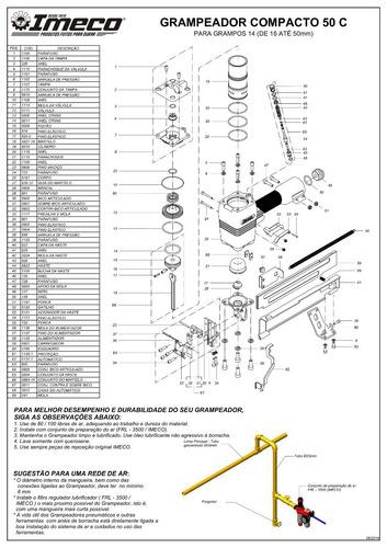 grampeador 14/50 pneumático  imeco - frte gratis - nacional