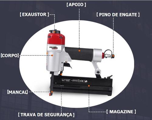 grampeador e pinador pneumático 2 em 1 f50/9040 pino grampo