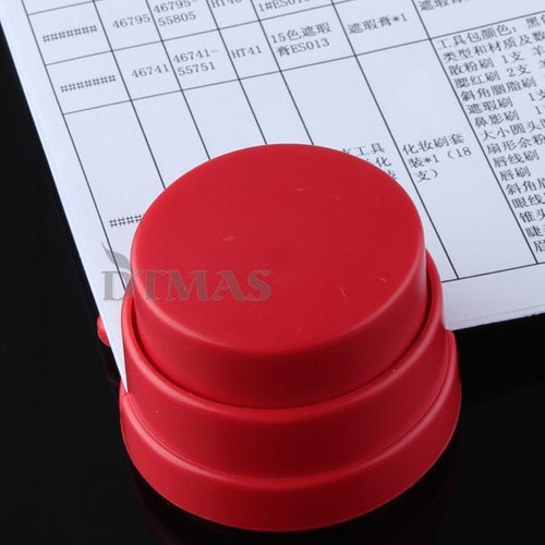 grampeador ecológico vermelho - pronta entrega - show !!!