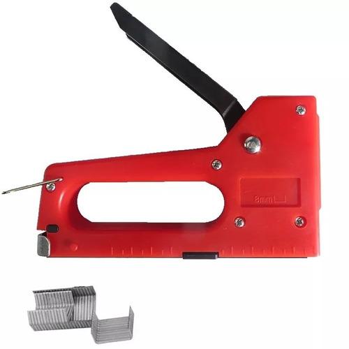 grampeador para tapeceiro com grampos 4 a 8mm mdf lona sofá