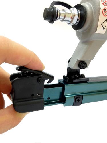 grampeador pneumatico 6 a 16mm rocama c/ nota e garantia