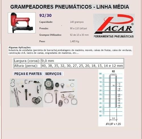 grampeador pneumatico 92/30 pacar-profissional 12x sem juros