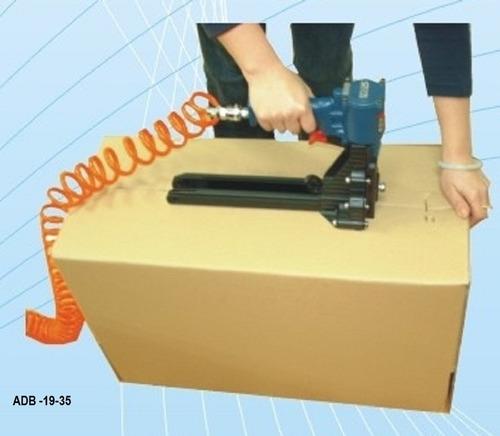 grampeador pneumático box - adb 19/35 p/ caixas de papelão