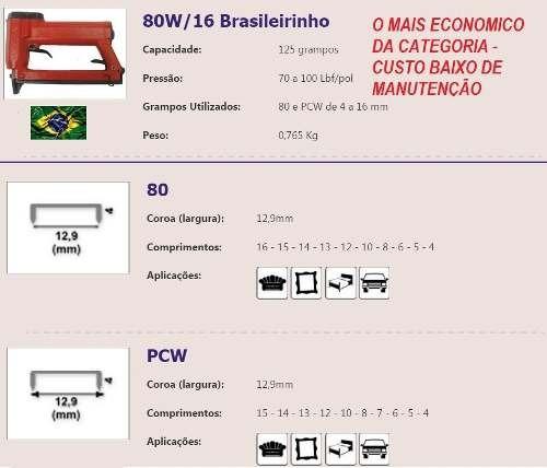 grampeador pneumático ( tapeceiro) pacar brasileirinho 80/16