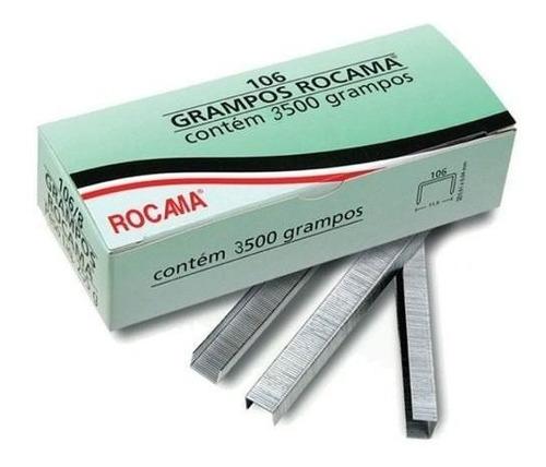grampeador profissional rocama + 3.500 grampos 106/6mm