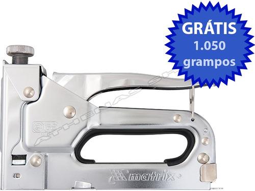 grampeador tapeceiro alta pressão profissional + brinde