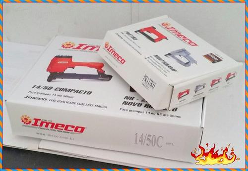 grampeadores imeco  (1mq)14/50c+(1mq)  80 prata -pneumaticos