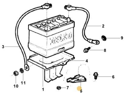 grampo bateria a10 c10 d10 74/84 a20 c20 d20 85/96 opala 69/
