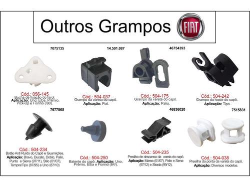 grampo do teto fiat cinza ducato/kangoo/master 20 peças
