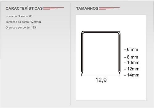 grampo pneumatico 80/06 - imeco, com 15.000 grampos