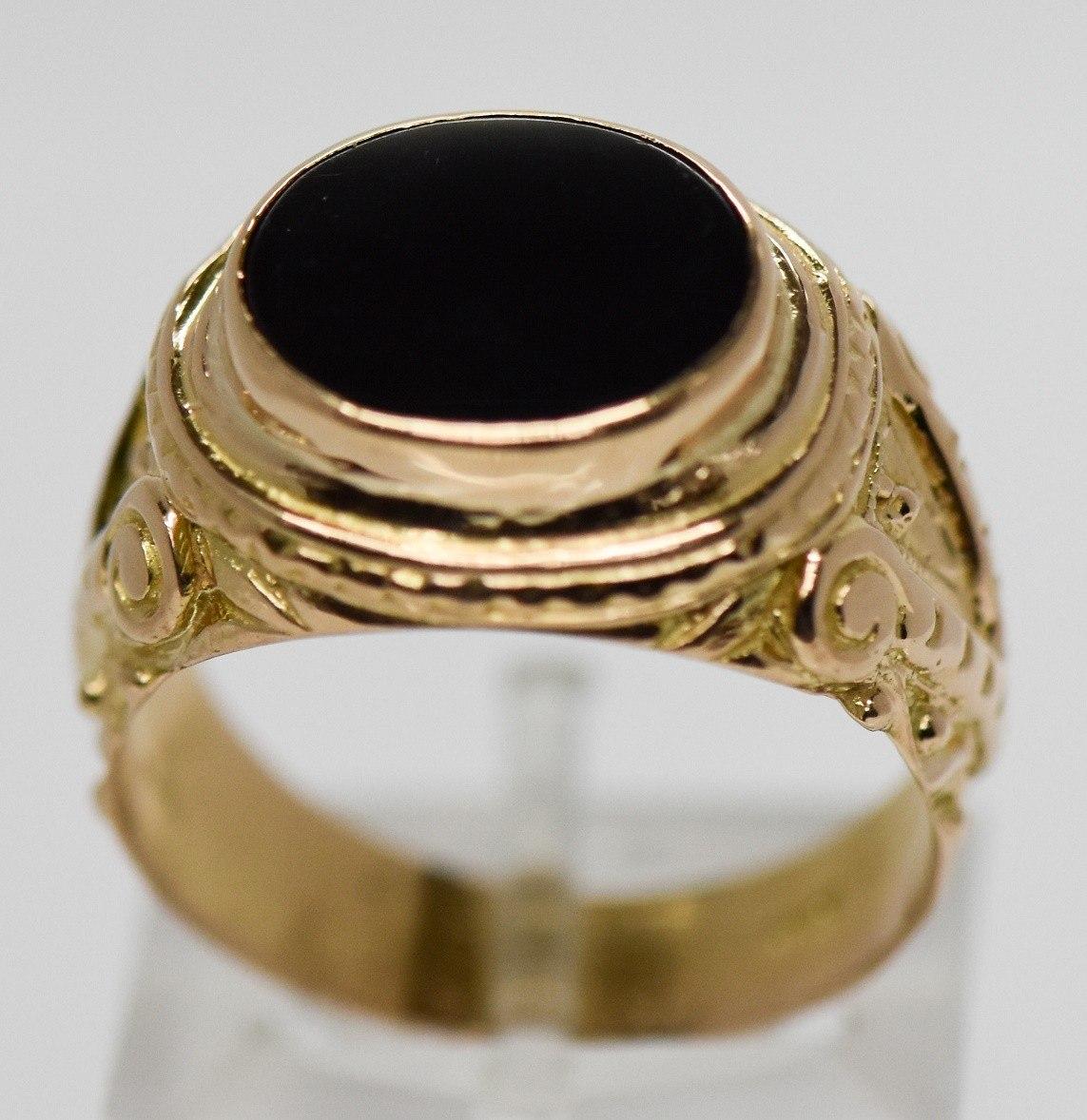 558cf9bec410 gran anillo europeo oro 18 kilates onix sellado hombre. Cargando zoom.