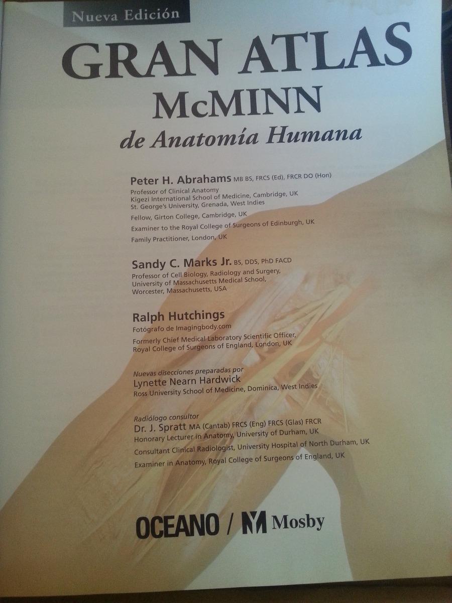Gran Atlas Mcminn De Anatomía Humana - Bs. 1.800,00 en Mercado Libre