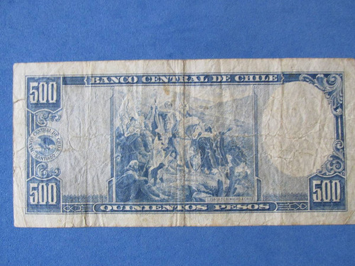 gran billete chile 500 pesos firmado maschke-mackenna
