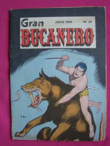 gran bucanero n° 37 julio 1961 - tarzan