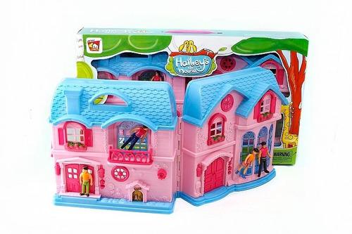 gran casa de muñecos con accesorios 29cm x 50cm
