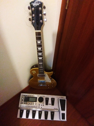 gran combo guitarra eléctrica oscar schmidt + boss gt-10