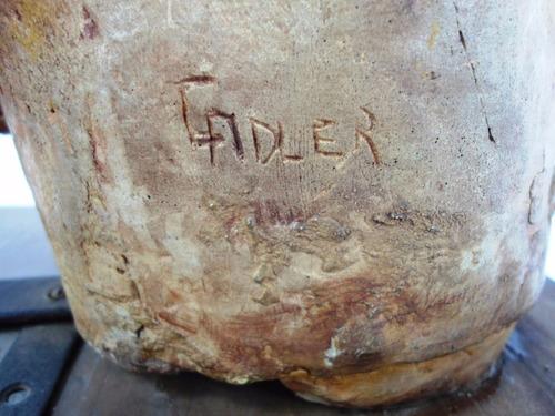 gran figura escultura busto en yeso fdo. celia adler (2271x)